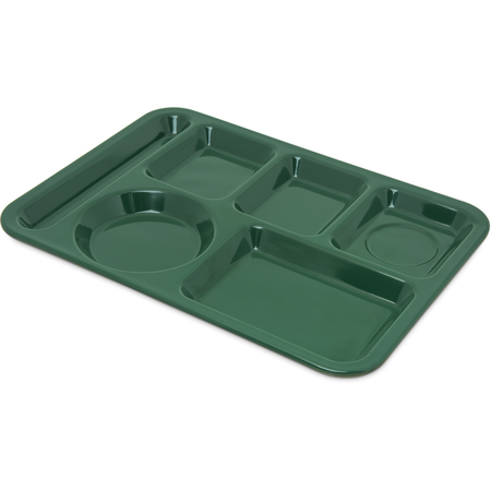 4398008 - Left-Hand Heavy Weight 6-Compartment Tray - Forest Green