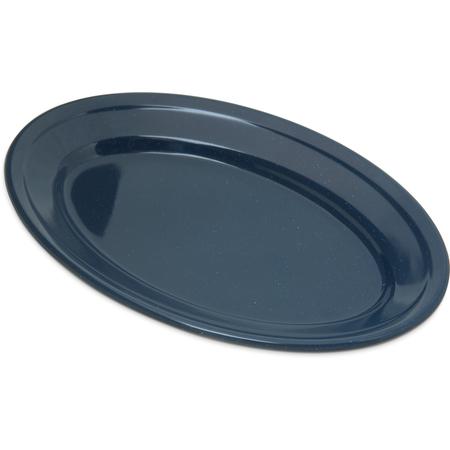"4356335 - Dallas Ware® Melamine Oval Platter Tray 9.25"" x 6.25"" - Café Blue"