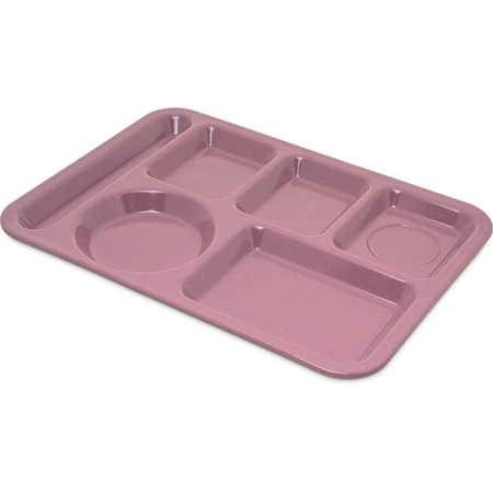 4398193 - Left-Hand Heavy Weight 6-Compartment Tray - Rose Granite