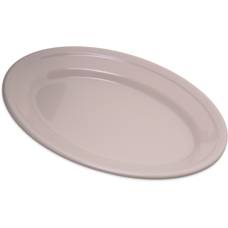 "4356342 - Dallas Ware® Melamine Oval Platter Tray 9.25"" x 6.25"" - Bone"