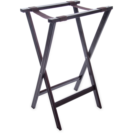 "C3620W11 - Wood Tray Stand 30"" - Walnut"