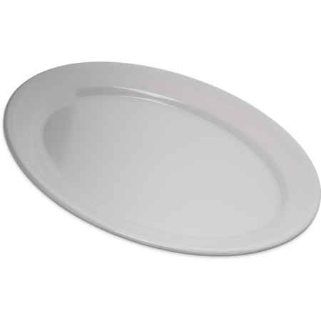 "4356002 - Dallas Ware® Melamine Oval Platter Tray 12"" x 8.5"" - White"