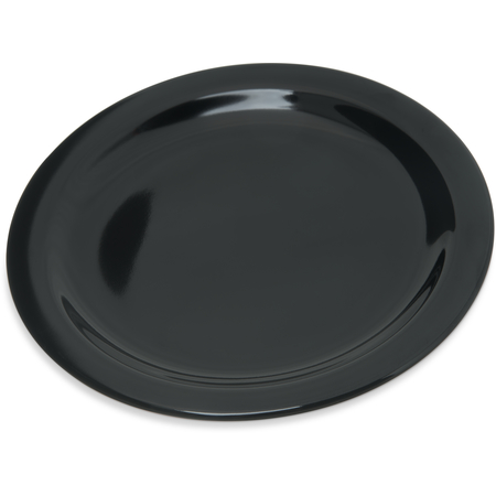 "4350303 - Dallas Ware® Melamine Salad Plate 7.25"" - Black"