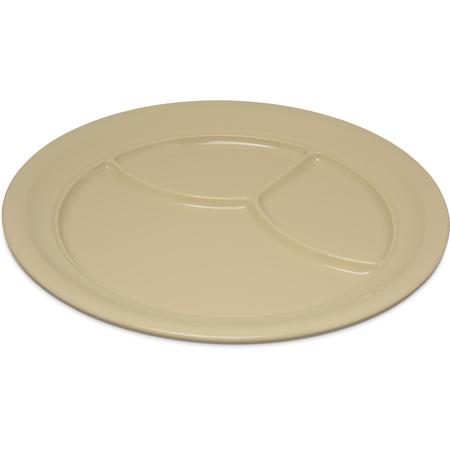 """4351425 - Dallas Ware® Melamine 3-Compartment Plate 9.75"""" - Tan"""
