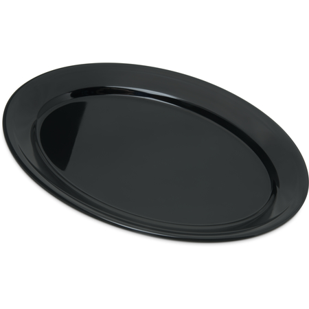 "4356003 - Dallas Ware® Melamine Oval Platter Tray 12"" x 8.5"" - Black"