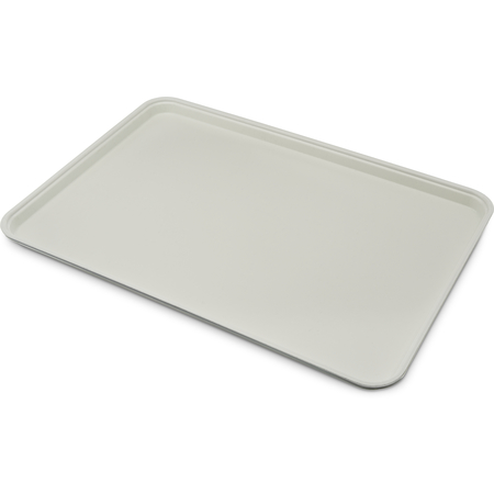 "1318FG002 - Glasteel™ Solid Display/Bakery Tray 17.75"" x 12.75"" - Smoke Gray"