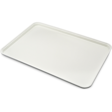 "1318FG001 - Glasteel™ Solid Display/Bakery Tray 17.75"" x 12.75"" - Bone White"