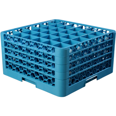 """RG36-414 - OptiClean™ 36 Compartment Glass Rack with 4 Extenders 10.3"""" - Carlisle Blue"""