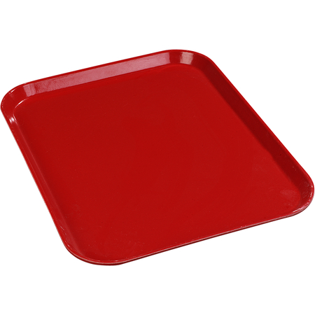"1612FG017 - Glasteel™ Solid Rectangular Tray 16.4"" x 12"" - Red"