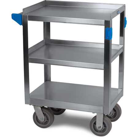 "UC7031524 - 3 Shelf Stainless Steel Utility Cart 700 lb Capacity 15.5""W x 24""L - Stainless Steel"