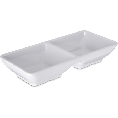 086202 - Melamine Double Square Ramekin 2 oz Per Square - White