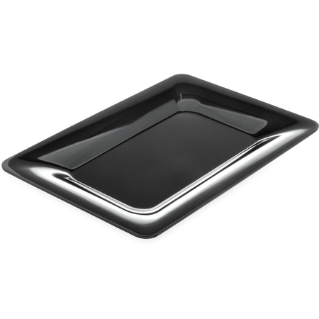 "4441403 - Designer Displayware™ Wide Rim Rectangle Platter 14"" x 10"" - Black"