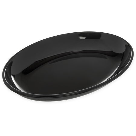"""791403 - Designer Displayware™ 2 qt Oval Platter 14"""" x 10"""" - Black"""
