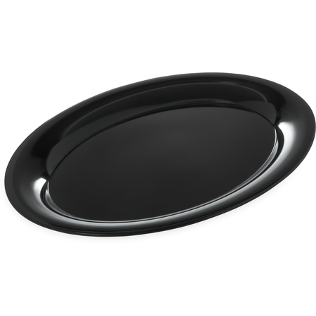 "4441003 - Designer Displayware™ Wide Rim Oval Platter 17"" x 13"" - Black"