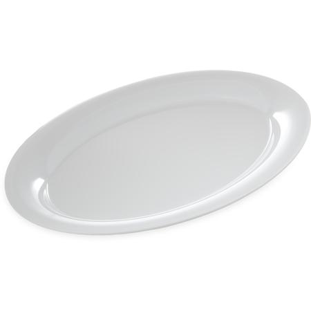 "4441202 - Designer Displayware™ Wide Rim Oval Platter 21"" x 15"" - White"