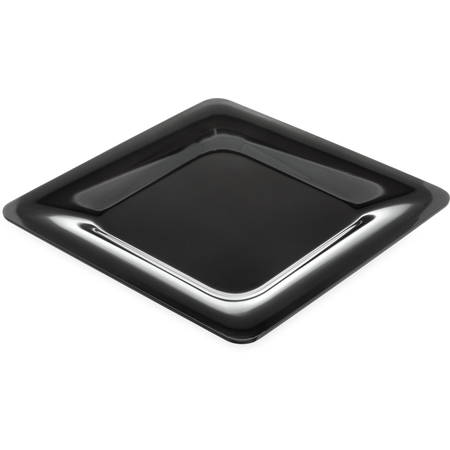 "4440003 - Designer Displayware™ Wide Rim Square Plate 12"" - Black"