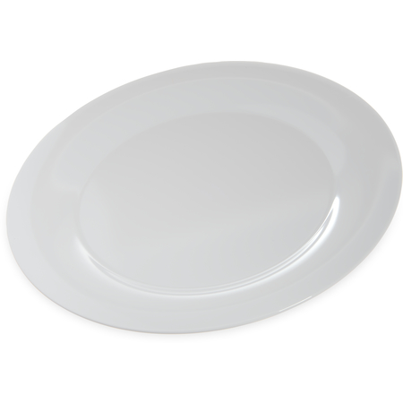 "4440402 - Designer Displayware™ Wide Rim Round Platter 15"" - White"