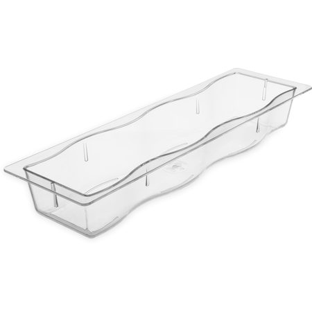 "699007 - Modular Displayware Half Long Pan Straight Edge 2-1/2"" Deep - Clear"