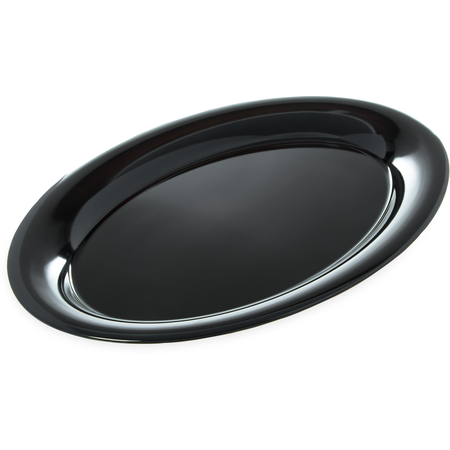"4441203 - Designer Displayware™ Wide Rim Oval Platter 21"" x 15"" - Black"