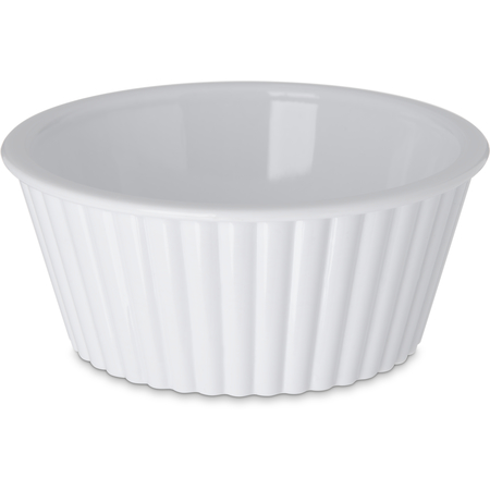 084502 - SAN Fluted Ramekin 4.5 oz - White
