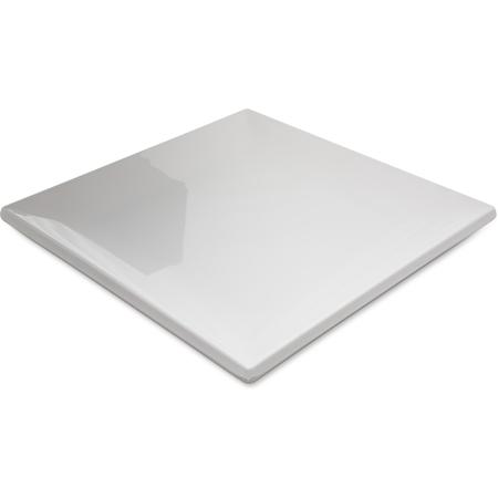 """HAL1102 - Halcyon Square Rim Plate 12"""" - Bone"""