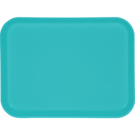 "1410FG011 - Glasteel™ Solid Rectangular Tray 13.75"" x 10.6"" - Turquoise"