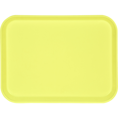 "1410FG021 - Glasteel™ Solid Rectangular Tray 13.75"" x 10.6"" - Pineapple"