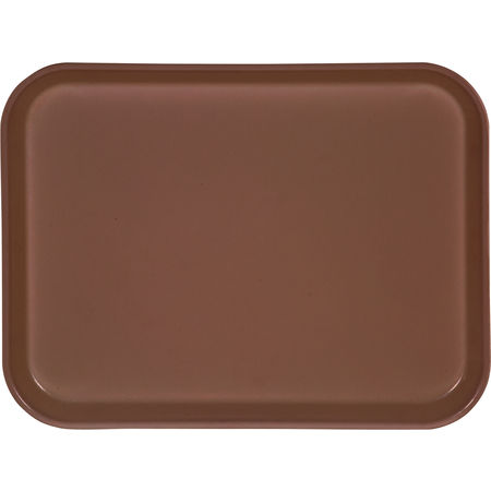 "1410FG127 - Glasteel™ Solid Rectangular Tray 13.75"" x 10.6"" - Chocolate"