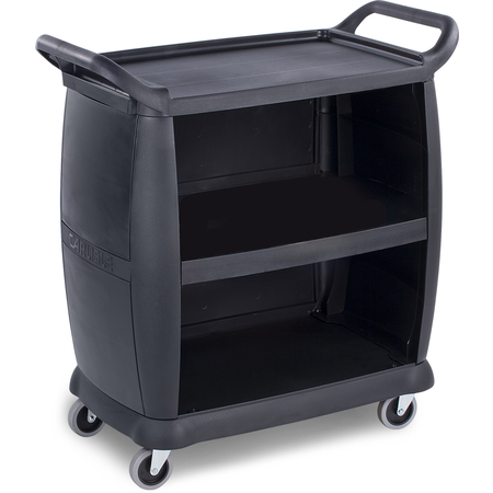 "CC2036P03 - Small Bussing Cart w/Panels 18"" x 36.25"" x 38"" - Black"