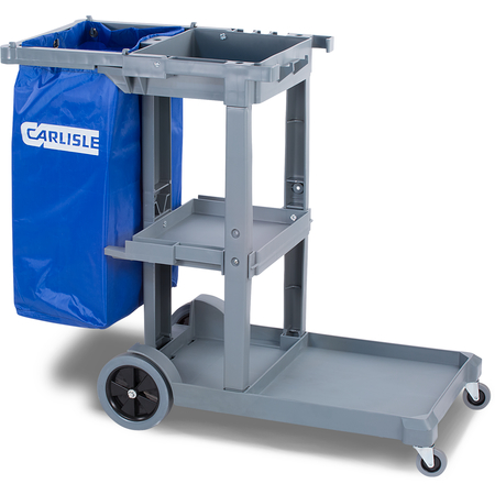 JC1945S23 - Short Platform Janitorial Cart - Gray
