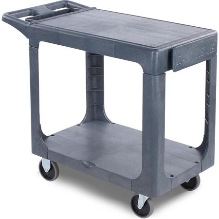 """UC194023 - 2 Shelf Utility Cart 40"""" x 19"""" - Gray"""