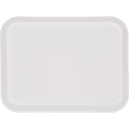"1410FG001 - Glasteel™ Solid Rectangular Tray 13.75"" x 10.6"" - Bone White"