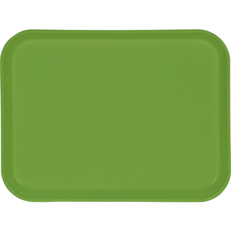 "1410FG009 - Glasteel™ Solid Rectangular Tray 13.75"" x 10.6"" - Lime"