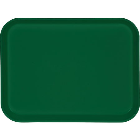 "1410FG010 - Glasteel™ Solid Rectangular Tray 13.75"" x 10.6"" - Forest Green"