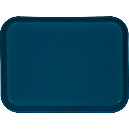 "1410FG014 - Glasteel™ Solid Rectangular Tray 13.75"" x 10.6"" - Cobalt Blue"