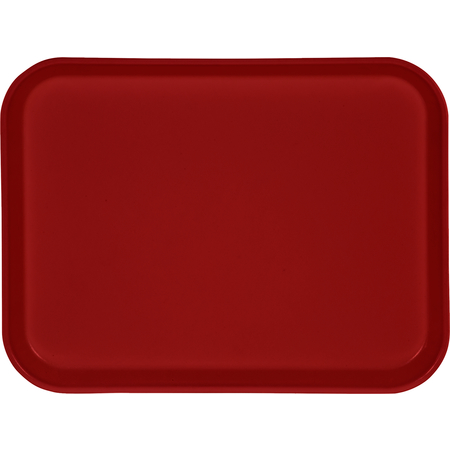 "1410FG017 - Glasteel™ Solid Rectangular Tray 13.75"" x 10.6"" - Red"