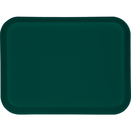 "1410FG051 - Glasteel™ Solid Rectangular Tray 13.75"" x 10.6"" - Teal"