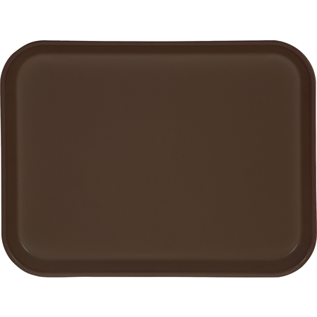"1410FG076 - Glasteel™ Solid Rectangular Tray 13.75"" x 10.6"" - Toffee Tan"