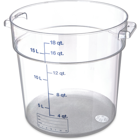 1076807 - StorPlus™ Polycarbonate Round Food Storage Container 18 qt - Clear