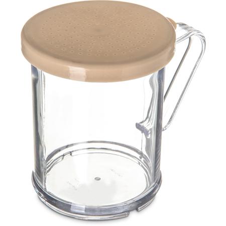 427006 - Shaker/Dredge With Salt & Pepper Lid 1 cup / 8 oz./ Hole Dia 0.050 - Beige