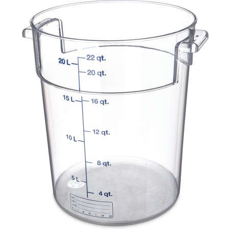 1076907 - StorPlus™ Polycarbonate Round Food Storage Container 22 qt - Clear