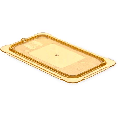 10496U13 - StorPlus™ High Heat Flat Universal Food Pan Lid 1/4 Size - Amber