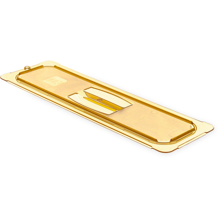 10450U13 - StorPlus™ Univ Lid - Food Pan HH Flat 1/2 Long Size - Amber