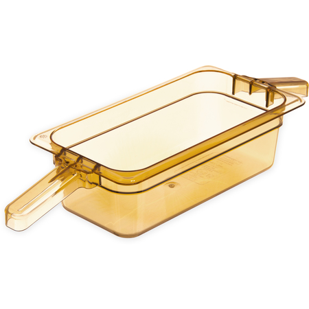 "30861HH13 - StorPlus™ Food Pan HH With 2 Handles 4"" DP 1/3 Size - Amber"