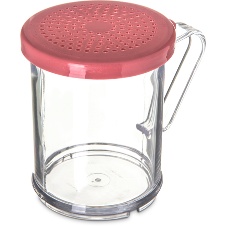 4250S55 - SAN Shaker/Dredge With Seasoning Lid 1 cup / 8 oz / Hole Dia 0.085 - Rose
