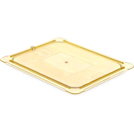 10436U13 - StorPlus™ High Heat Flat Universal Food Pan Lid 1/2 Size - Amber