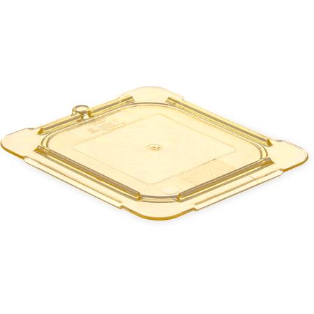 10516U13 - StorPlus™ High Heat Flat Universal Food Pan Lid 1/6 Size - Amber