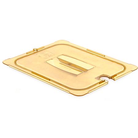 10431U13 - StorPlus™ High Heat Handled Universal Food Pan Lid 1/2 Size - Amber