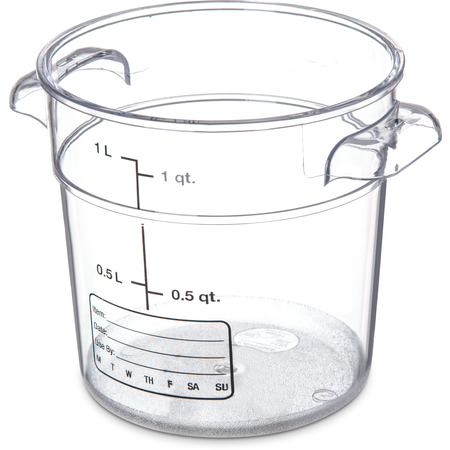 1076107 - StorPlus™ Polycarbonate Round Food Storage Container 1 qt - Clear
