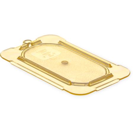 10536U13 - StorPlus™ High Heat Flat Universal Food Pan Lid 1/9 Size - Amber